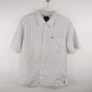 Vintage Quiksilver Striped Button Up Shirt